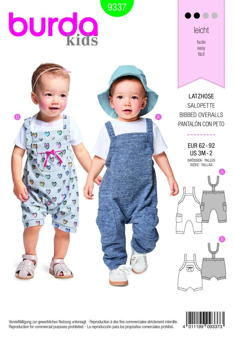 Burda Style Pattern B9337 Baby's Bidded Trousers