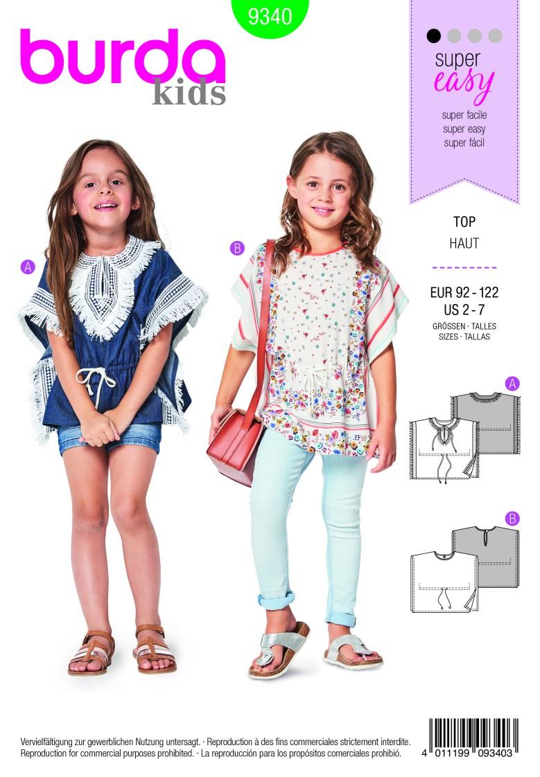 Burda Style Pattern B9340 Child's Summer Poncho