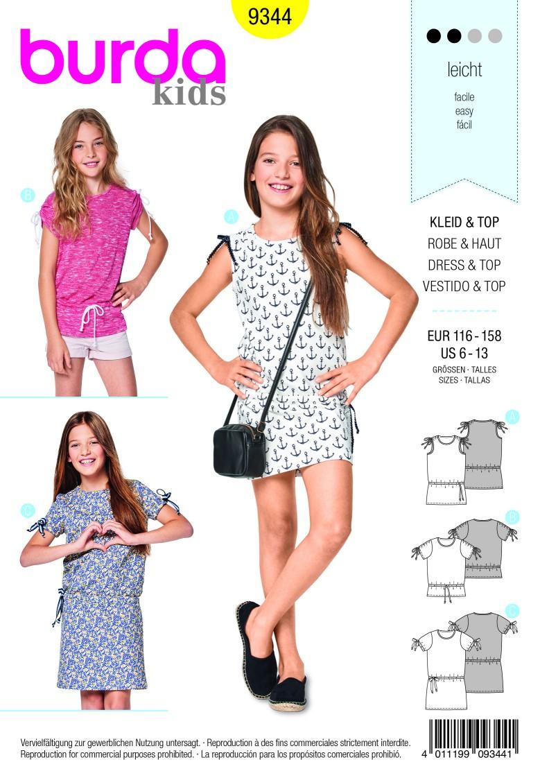 Burda Style Pattern B9344 Child's Shirt Dresses