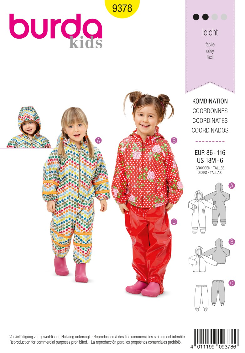 Burda Style Pattern 9378 Coordinates