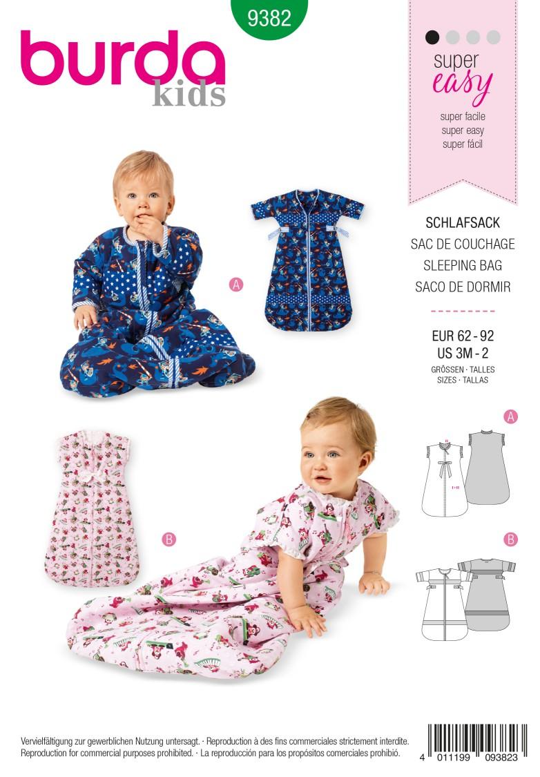 Burda B9382 Babies' Sleeping Bag Sewing Pattern