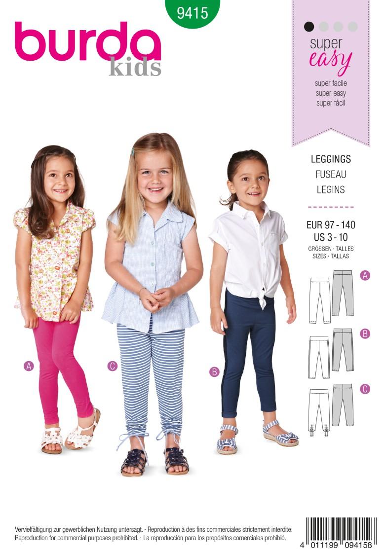 Burda B9415 Toddlers Sewing Pattern
