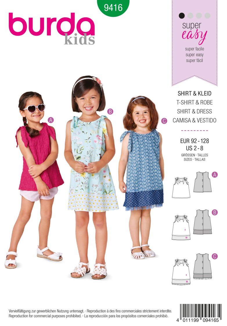 Burda B9416 Toddlers Sewing Pattern
