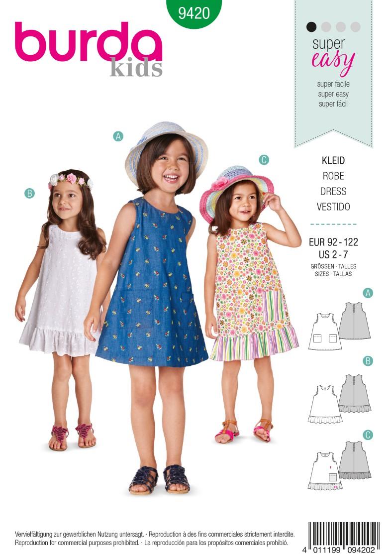 Burda B9420 Toddlers Sewing Pattern