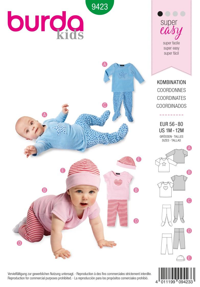 Burda B9423 burda style baby Sewing Pattern