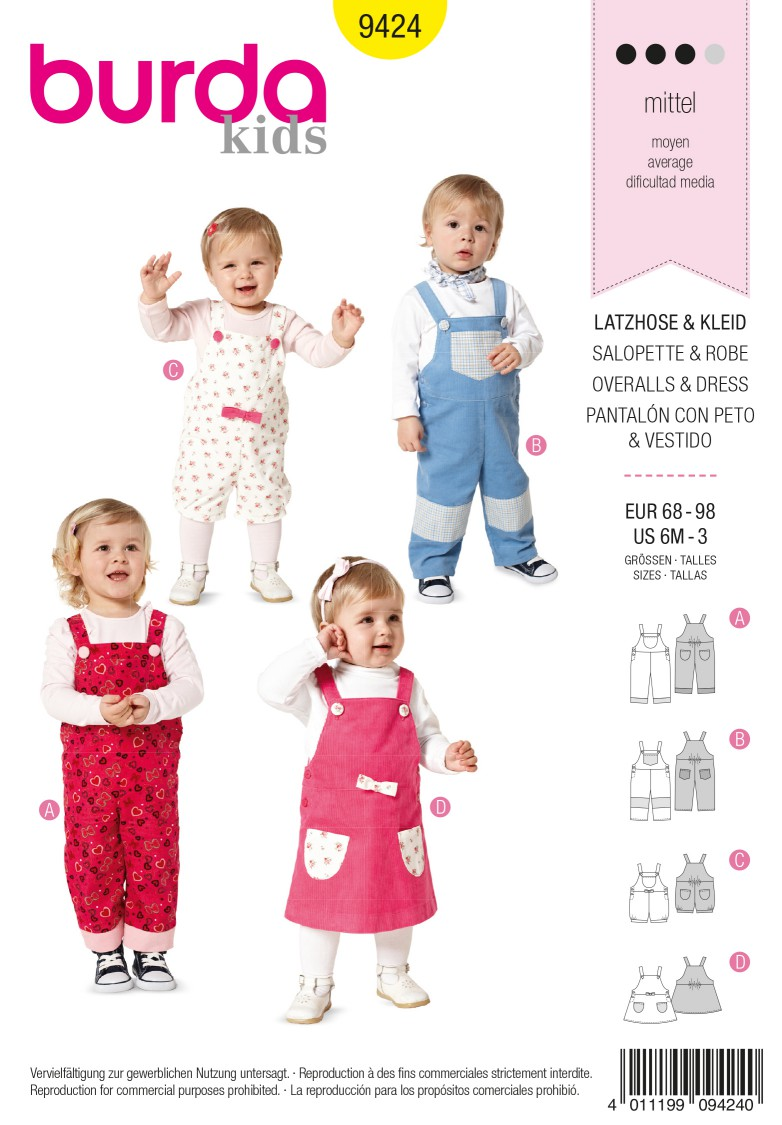 Burda Style B9424 Baby Sewing Pattern