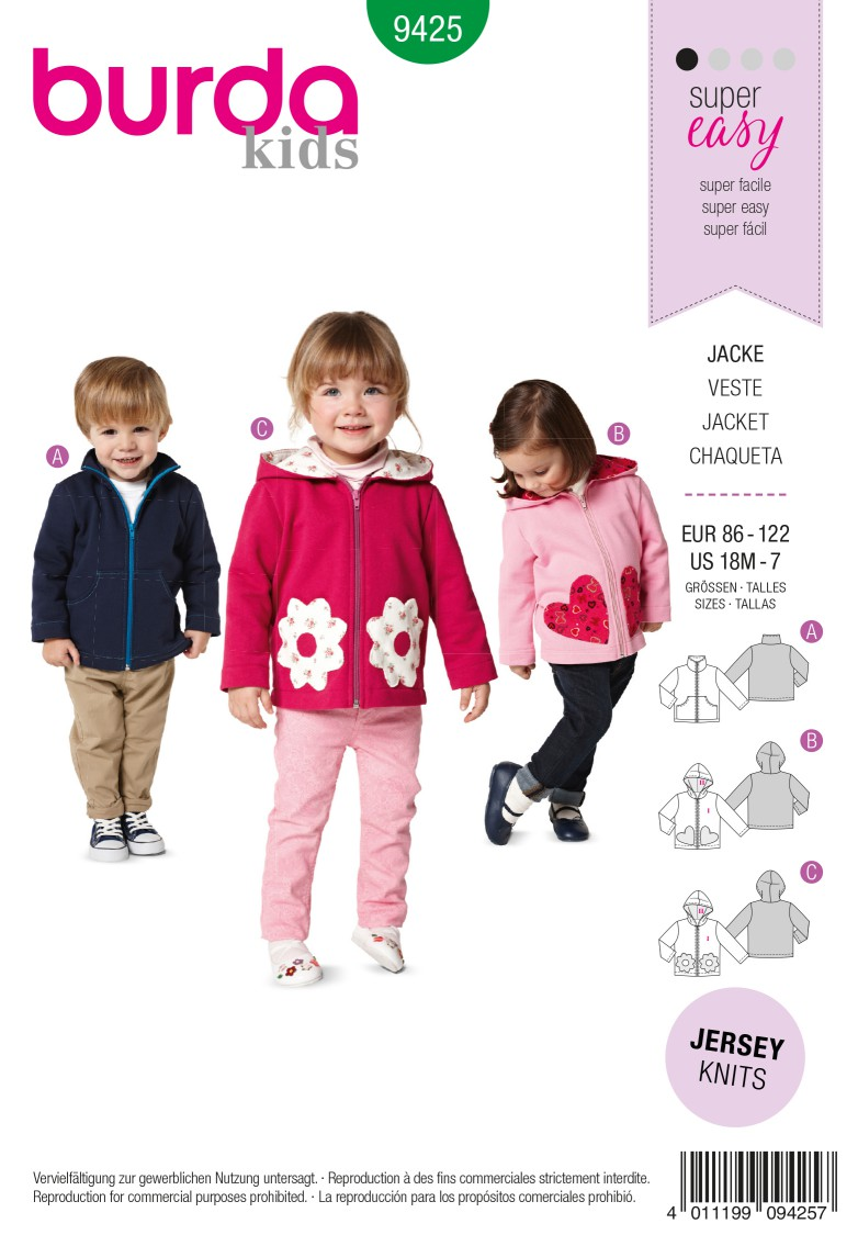 Burda Style B9425 Toddlers Sewing Pattern