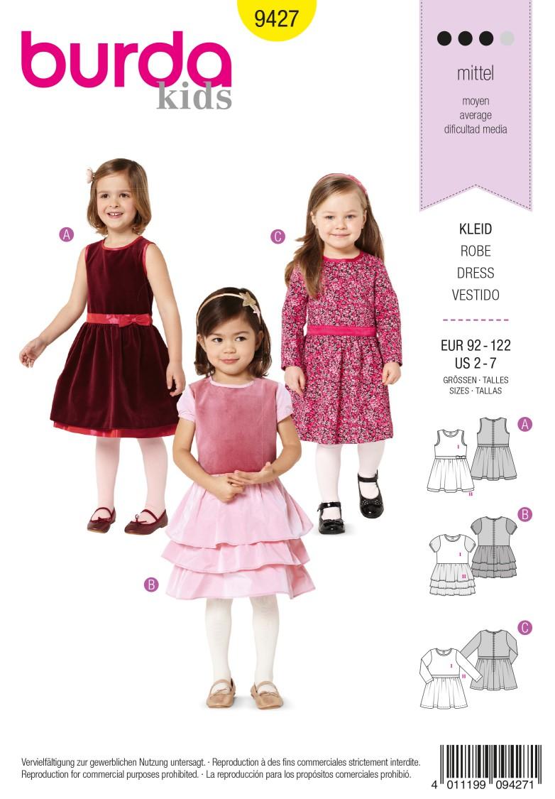 Burda Style B9427 Toddlers Sewing Pattern