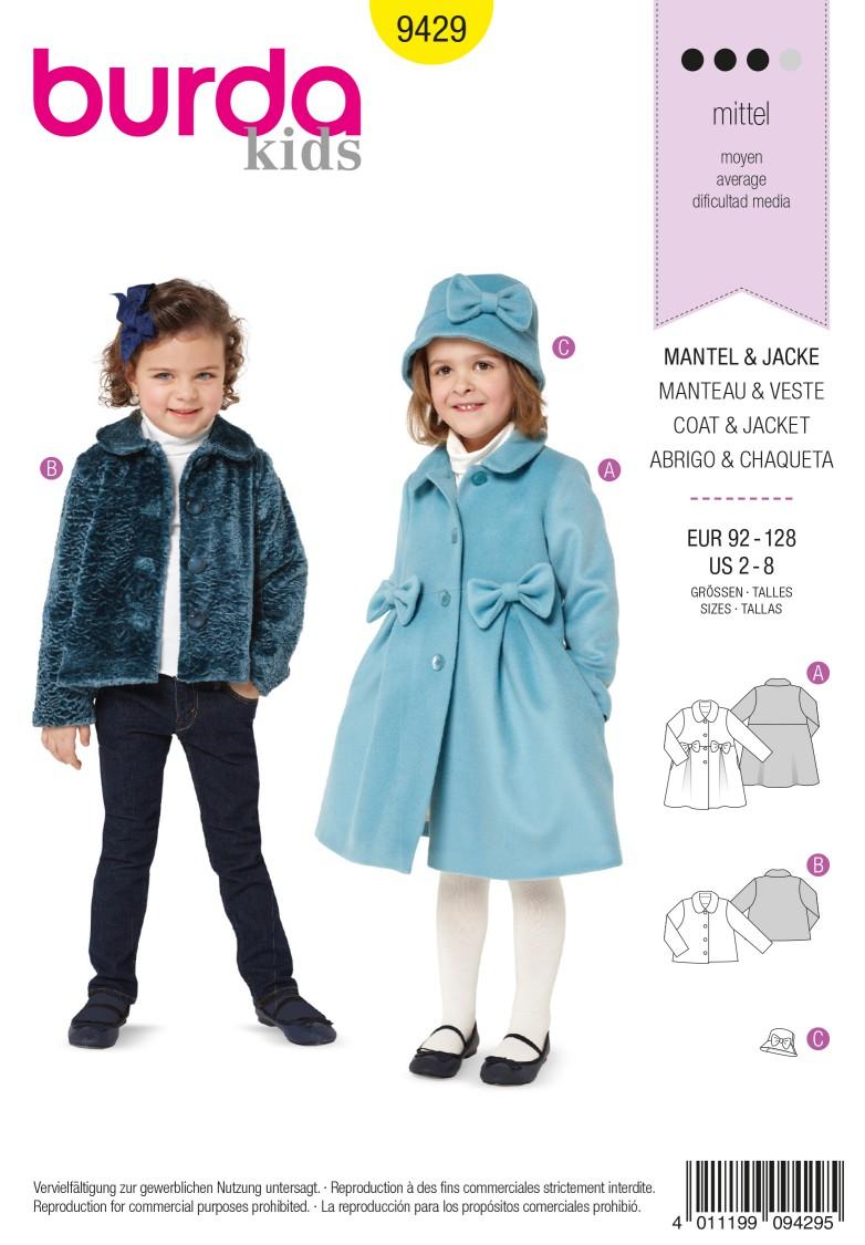Burda Style B9429 Toddlers Sewing Pattern