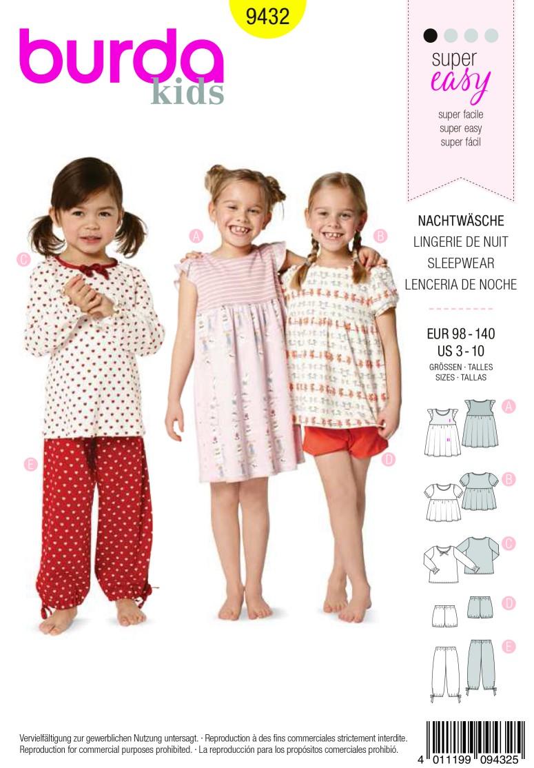 Burda Style B9432 Homewear Sewing Pattern