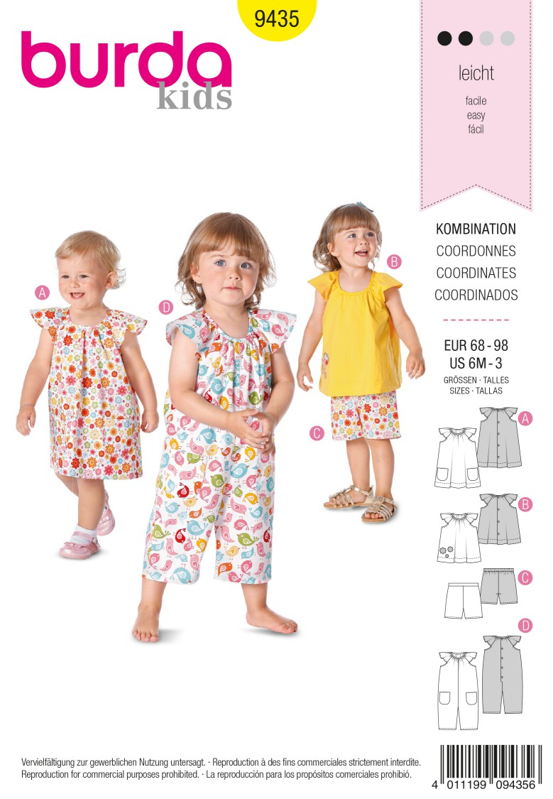 Burda B9435 Burda Style Baby Sewing Pattern