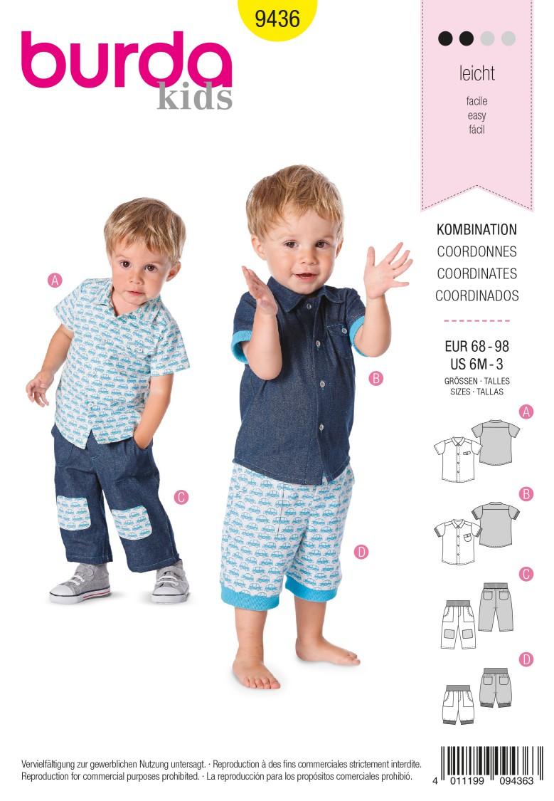 Burda B9436 Burda Style Baby Sewing Pattern