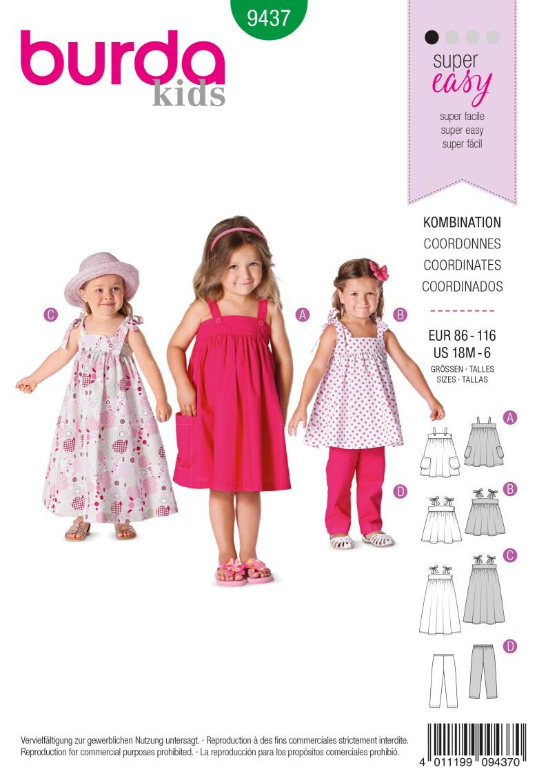 Burda B9437 Burda Style Toddlers Sewing Pattern