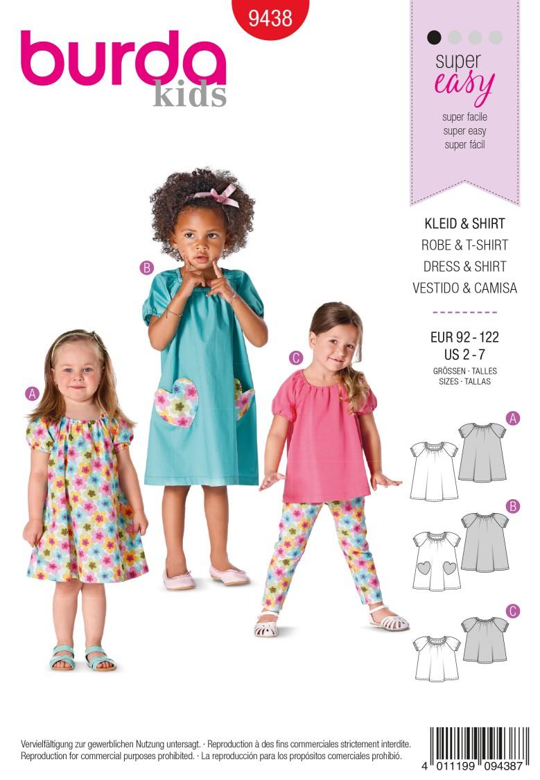 Burda B9438 Burda Style Toddlers Sewing Pattern