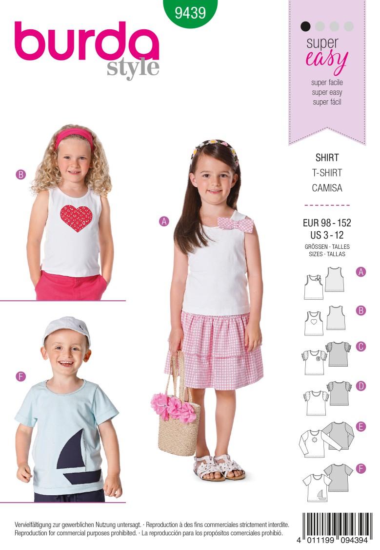 Burda B9439 Burda Style Children Sewing Pattern