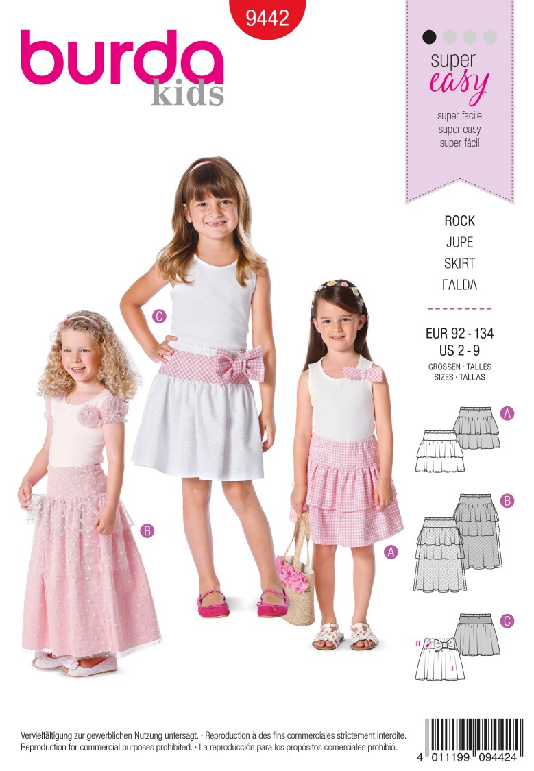 Burda B9442 Burda Style Children Sewing Pattern