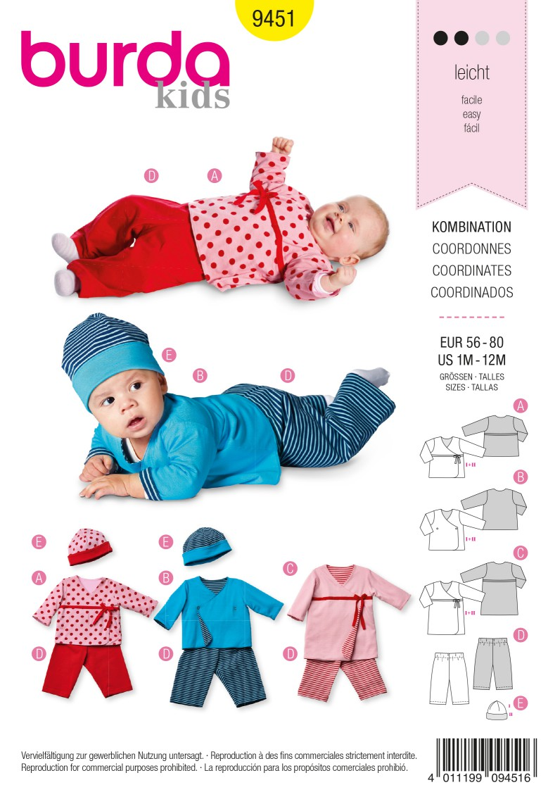 Burda B9451 Burda Style Coordinates Sewing Pattern