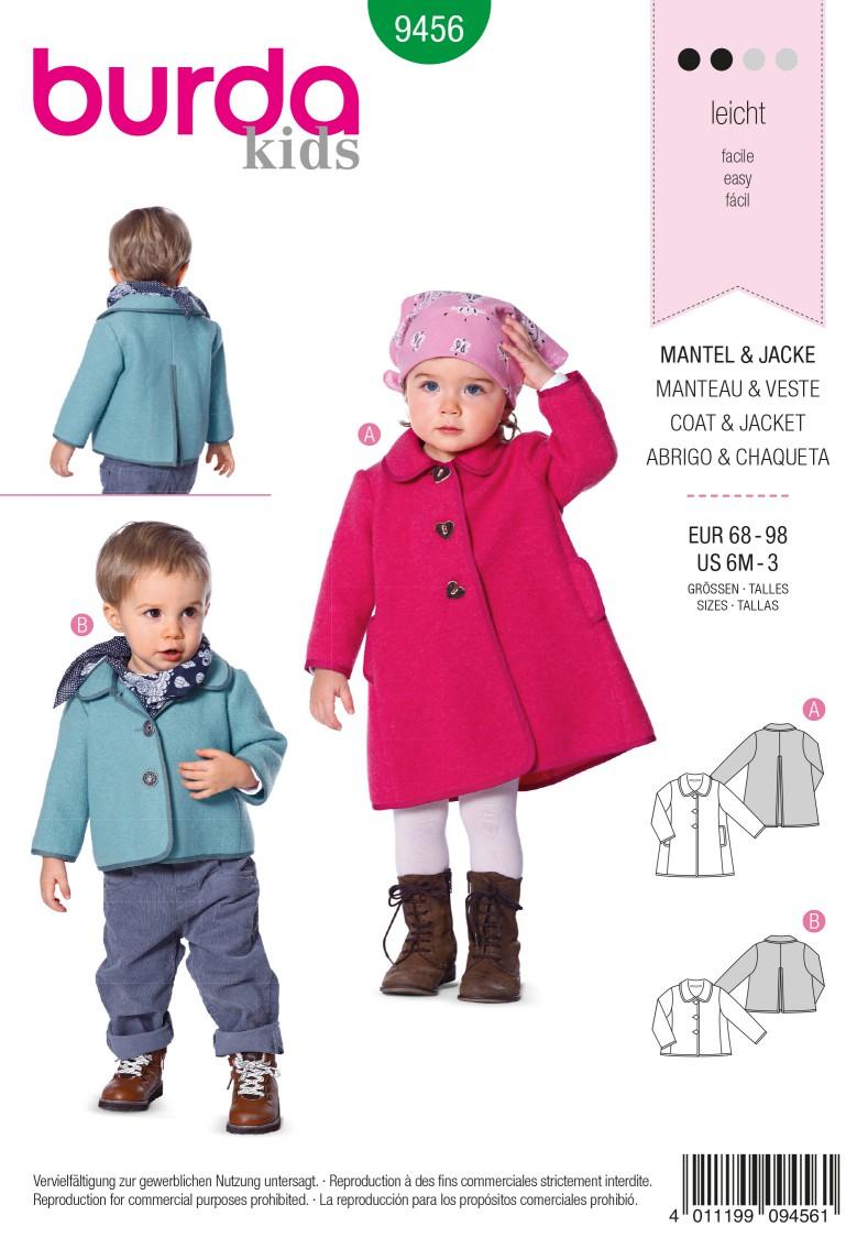 Burda B9456 Burda Style Coat & Jacket Sewing Pattern
