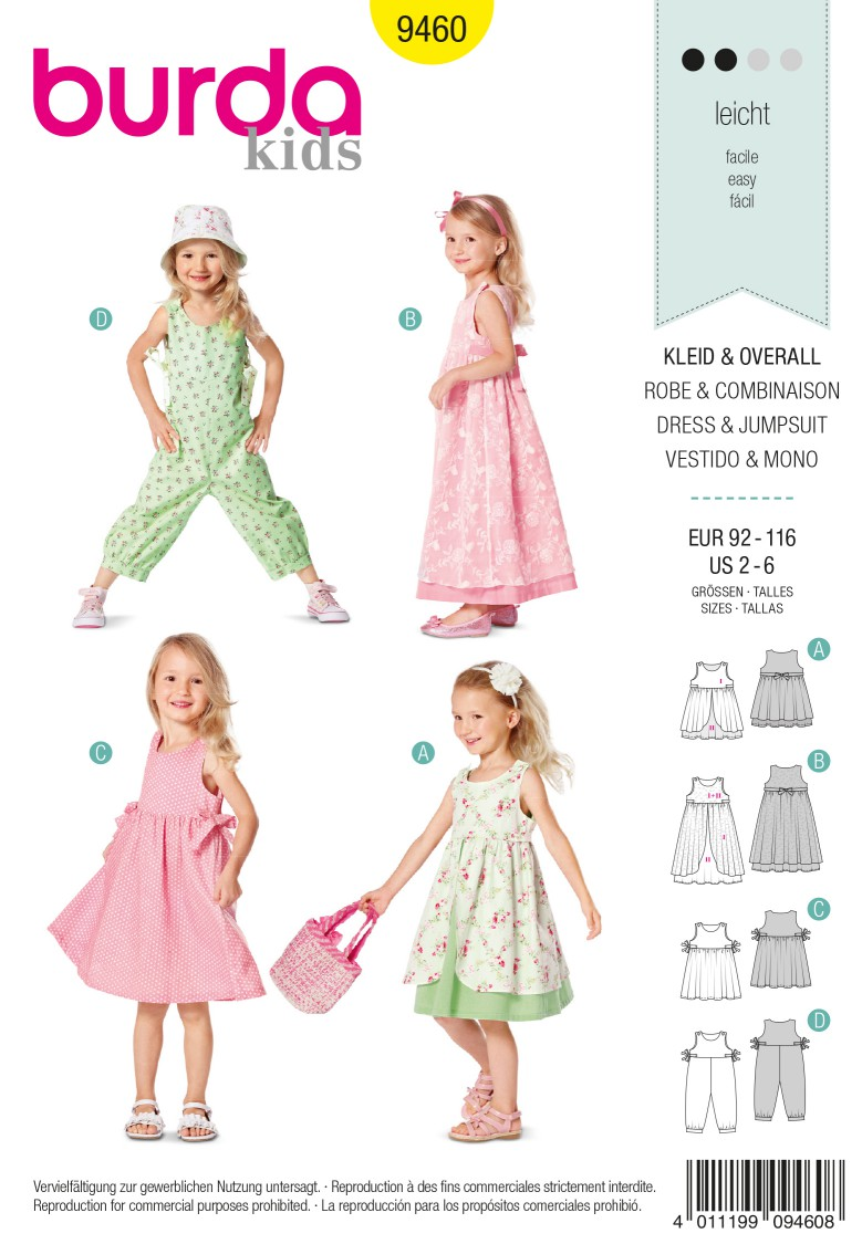 Burda Style B9460 Dress & Jumpsuit Sewing Pattern
