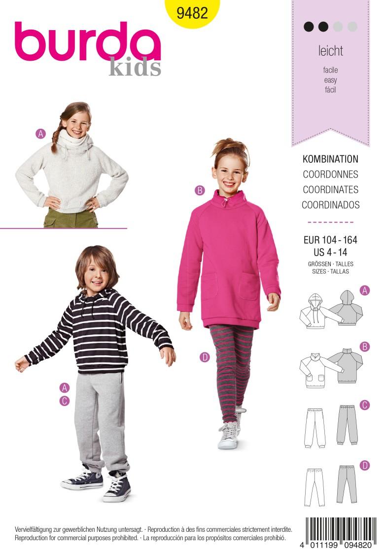 Burda Kids B9482 Coordinates Sewing Pattern