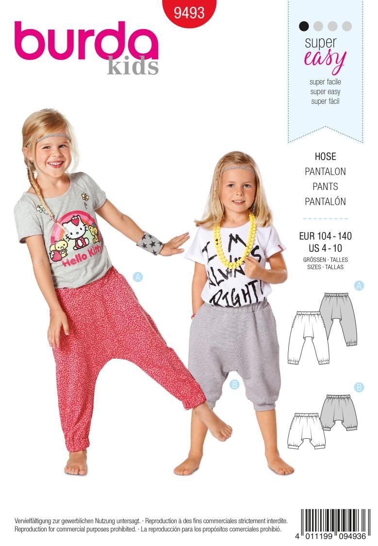 Burda B9493 Trousers Sewing Pattern