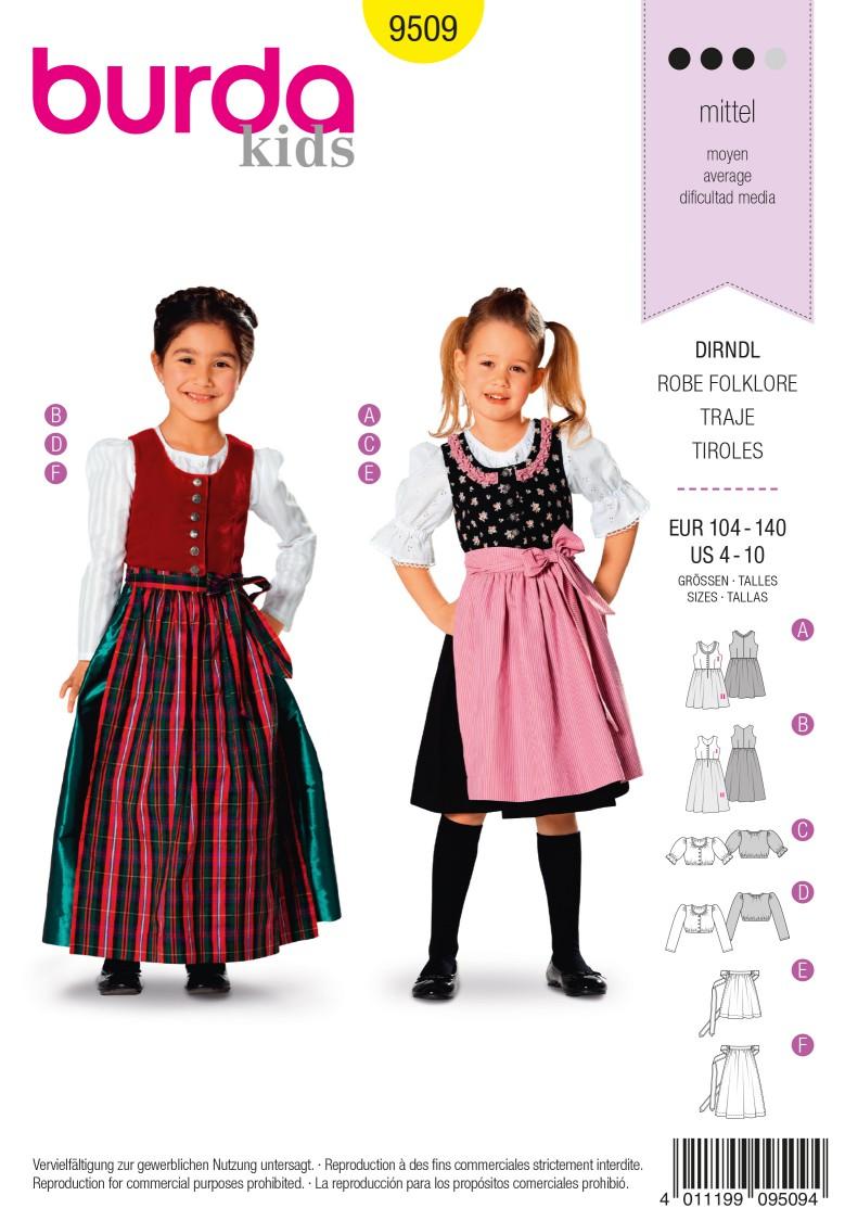 Burda B9509 Dirndl Dress Sewing Pattern
