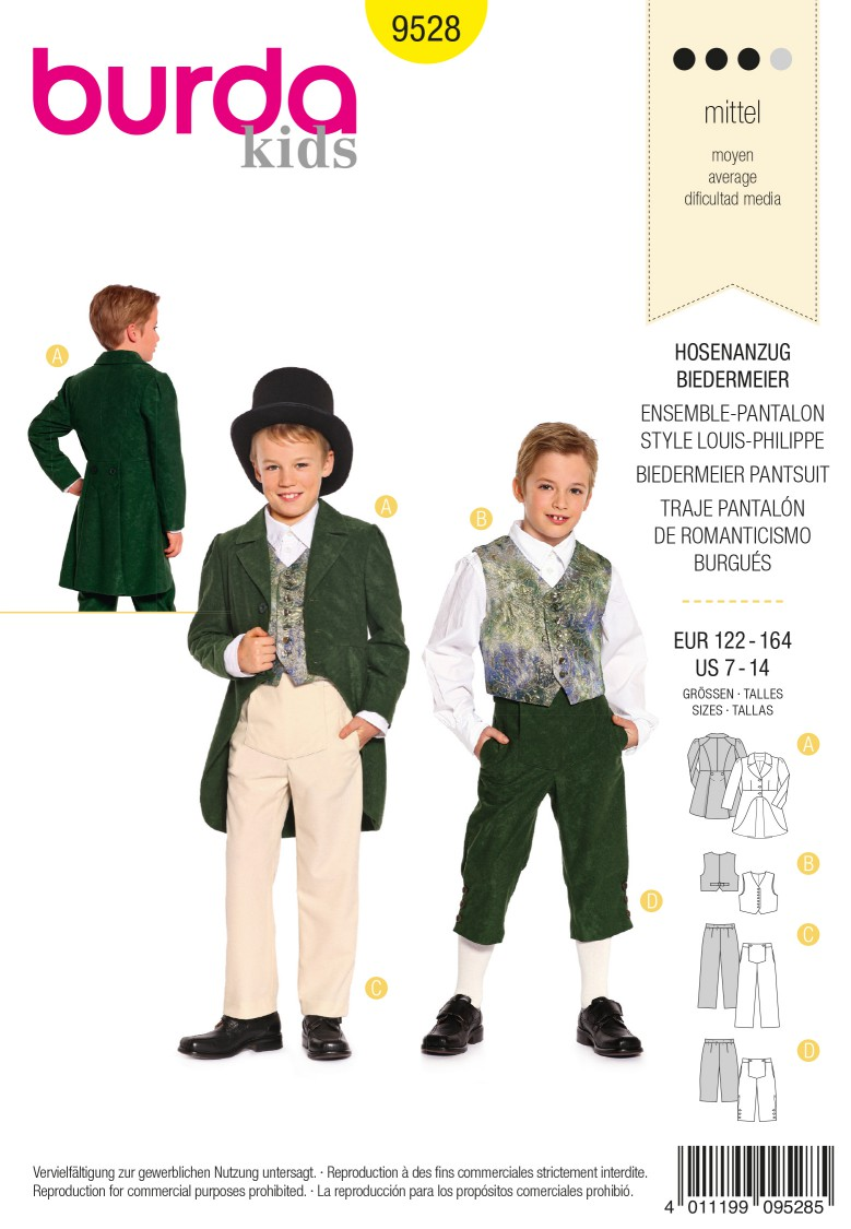 Burda B9528 Burda Style, Biedermeier Trousersuit