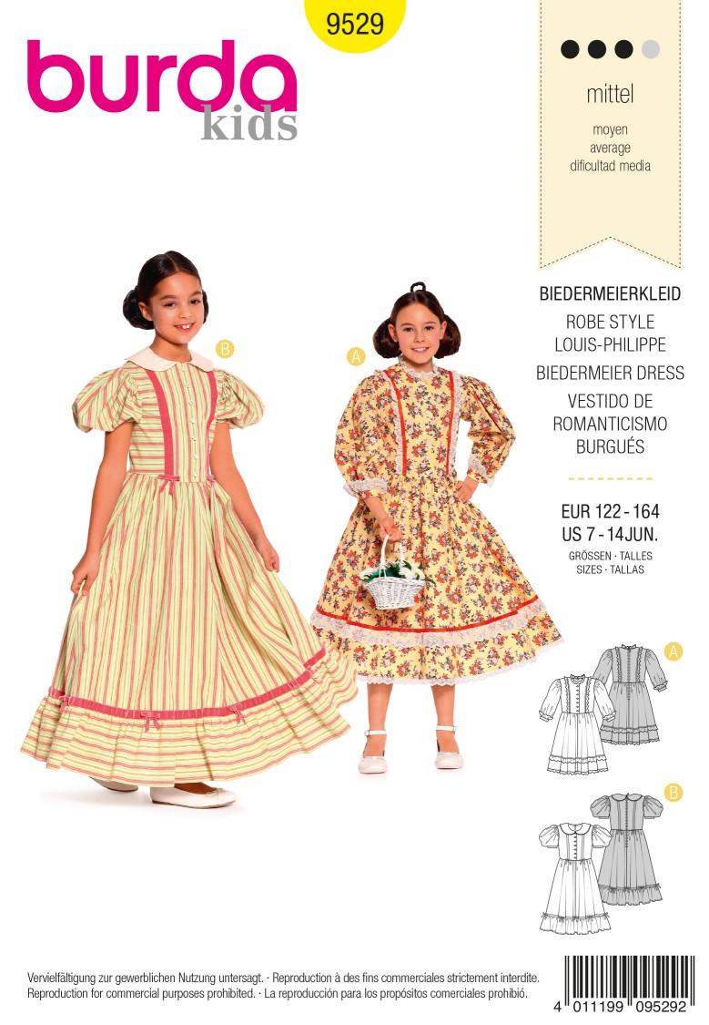 Burda B9529 Burda Style, Biedermeier Dress