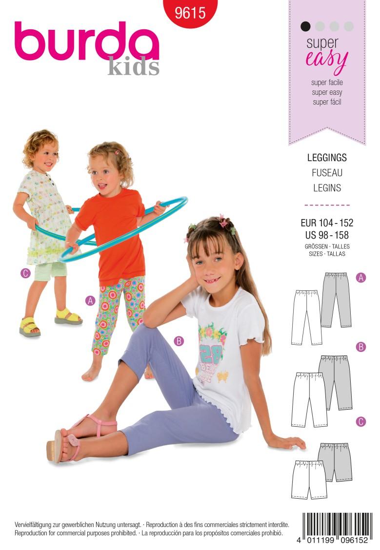 Burda B9615 Leggings Sewing Pattern