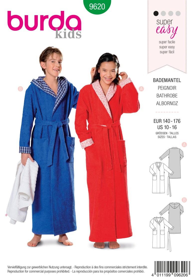 Burda B9620 Bathrobe Sewing Pattern