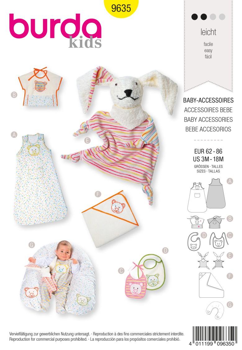 Burda B9635 Burda Style, Baby Accessories