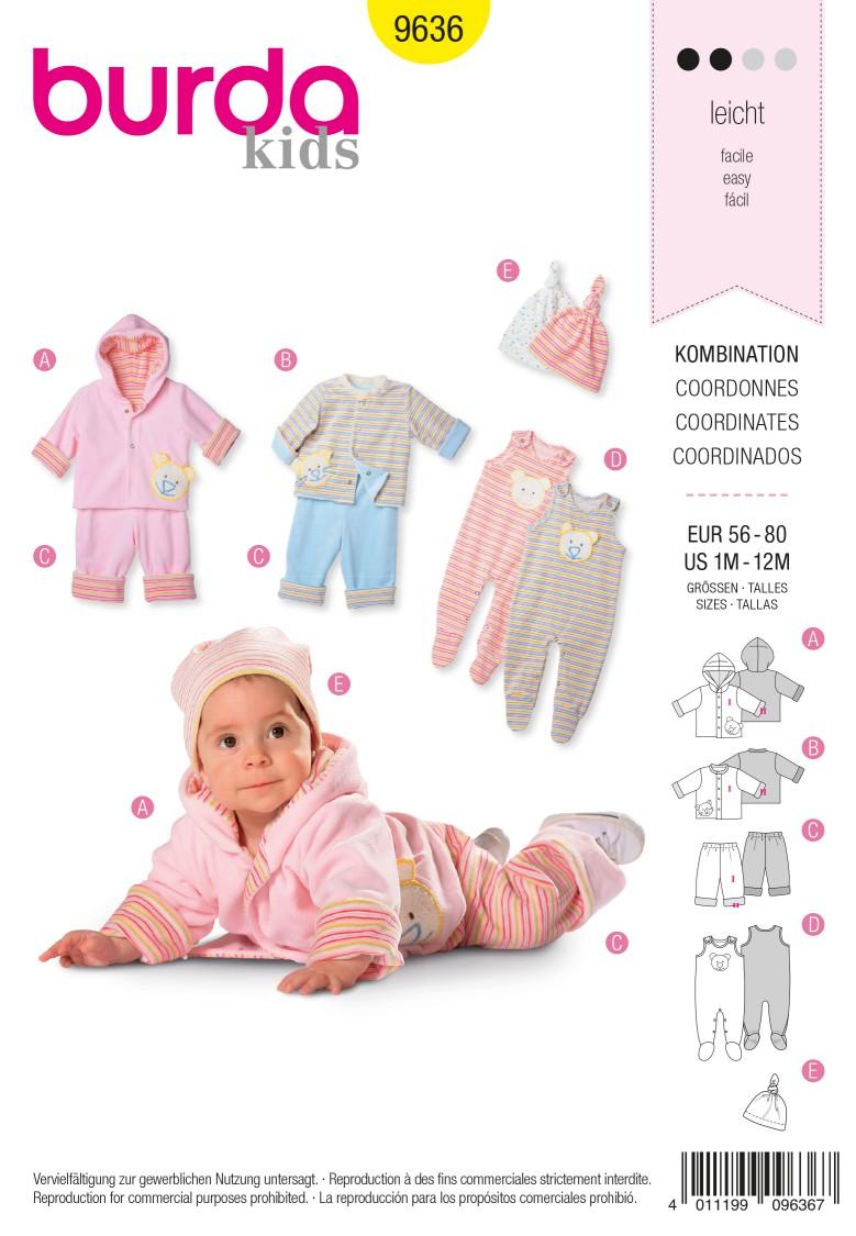 Burda B9636 Coordinates Sewing Pattern