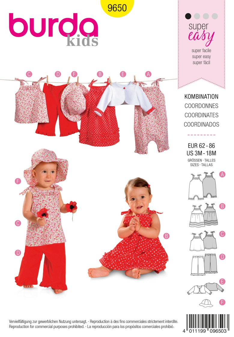 Burda B9650 Coordinates Sewing Pattern