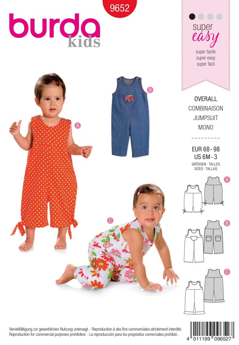 Burda B9652 Jumpsuit Sewing Pattern