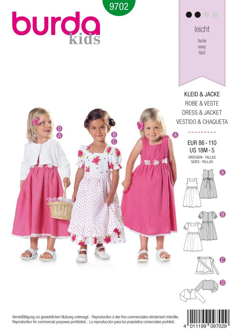 Burda B9702 Dress & Jacket Sewing Pattern