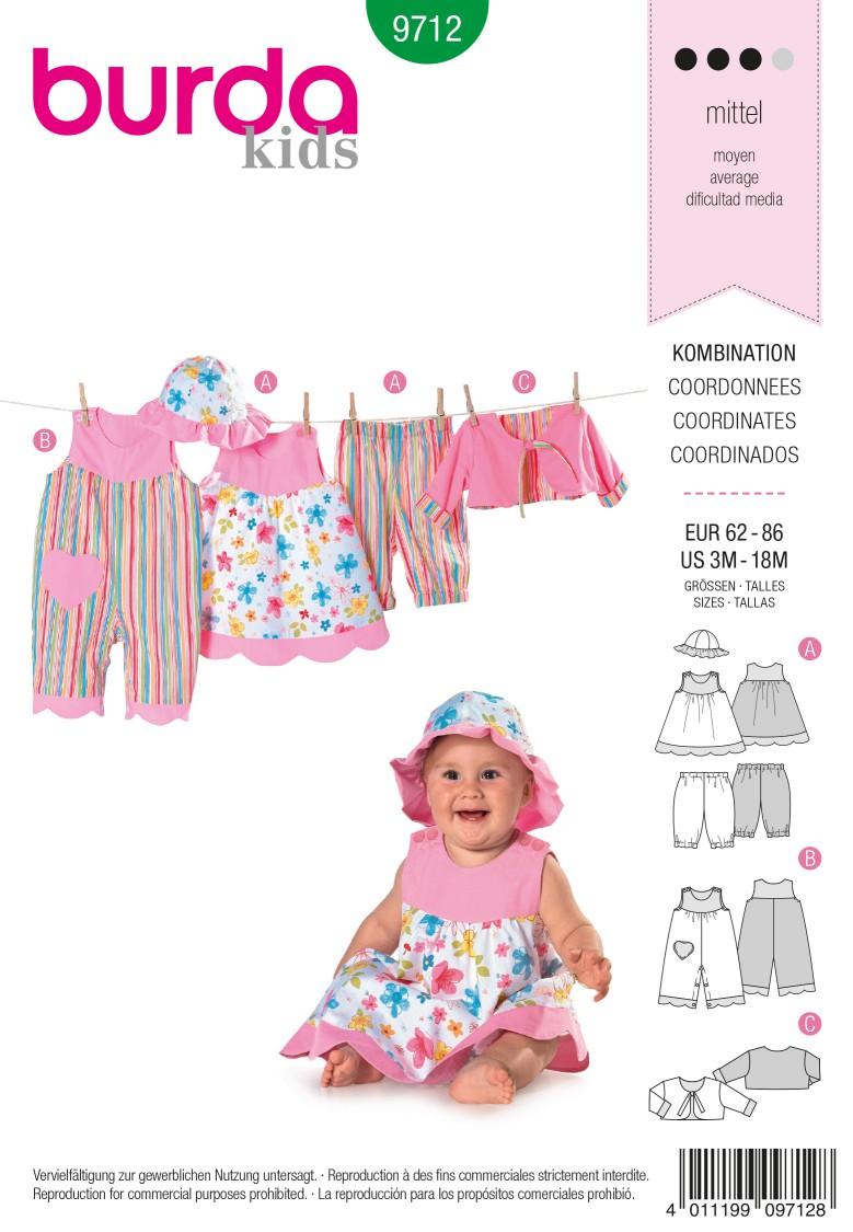 Burda B9712 Coordinates Sewing Pattern