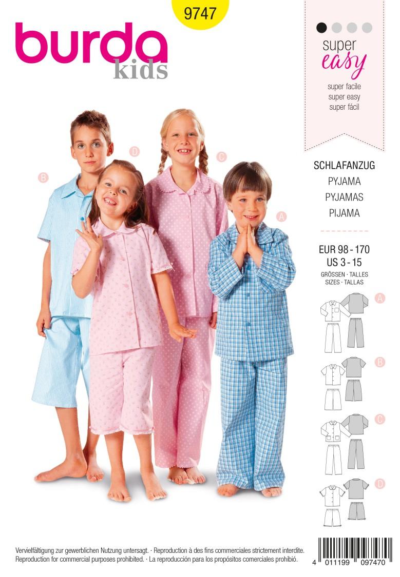 Burda B9747 Pyjamas Sewing Pattern