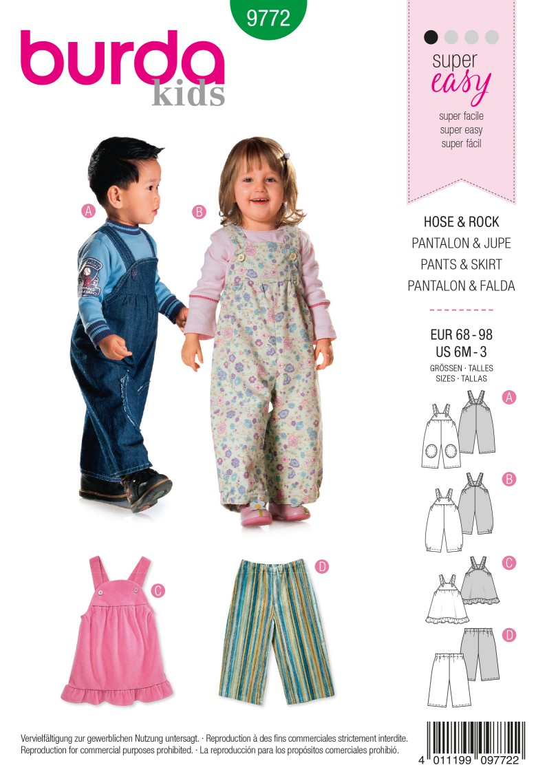 Burda B9772 Trousers & Skirt Sewing Pattern