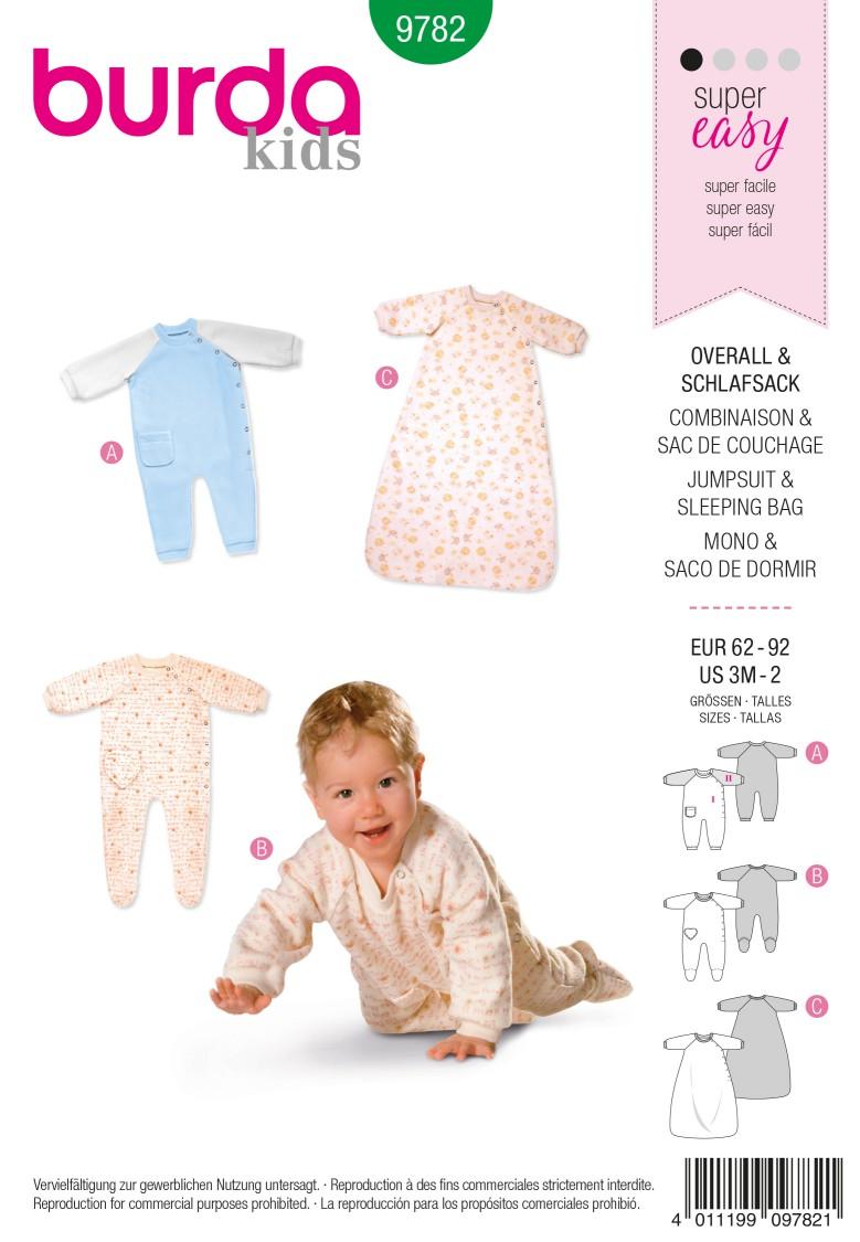 Burda B9782 Jumpsuit & Sleeping Bag Sewing Pattern