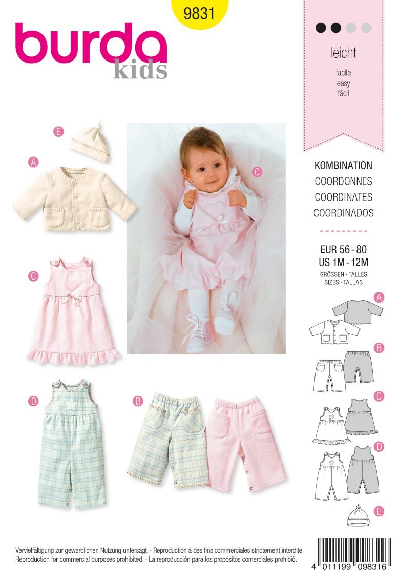 Burda B9831 Coordinates Sewing Pattern