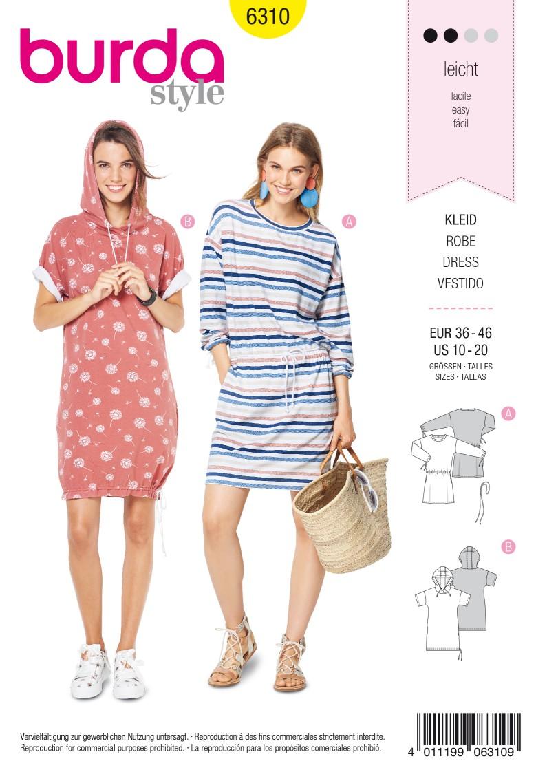Burda Style Pattern 6310 Misses' shirt dress