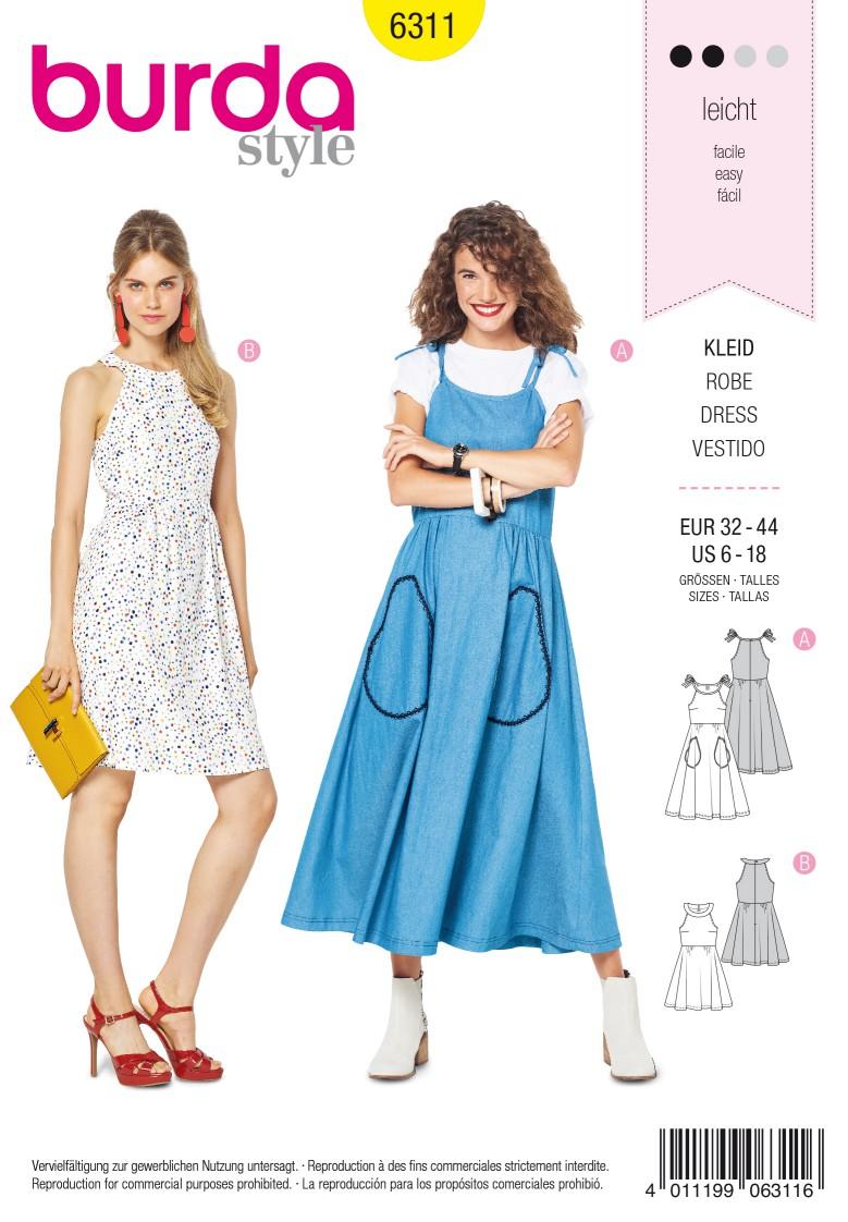 Burda Style Pattern 6311 Misses' bare shoulder dress