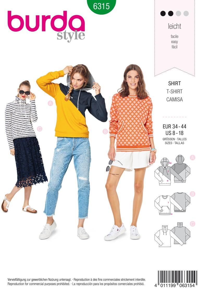 Burda Style Pattern 6315 Misses' hoodie