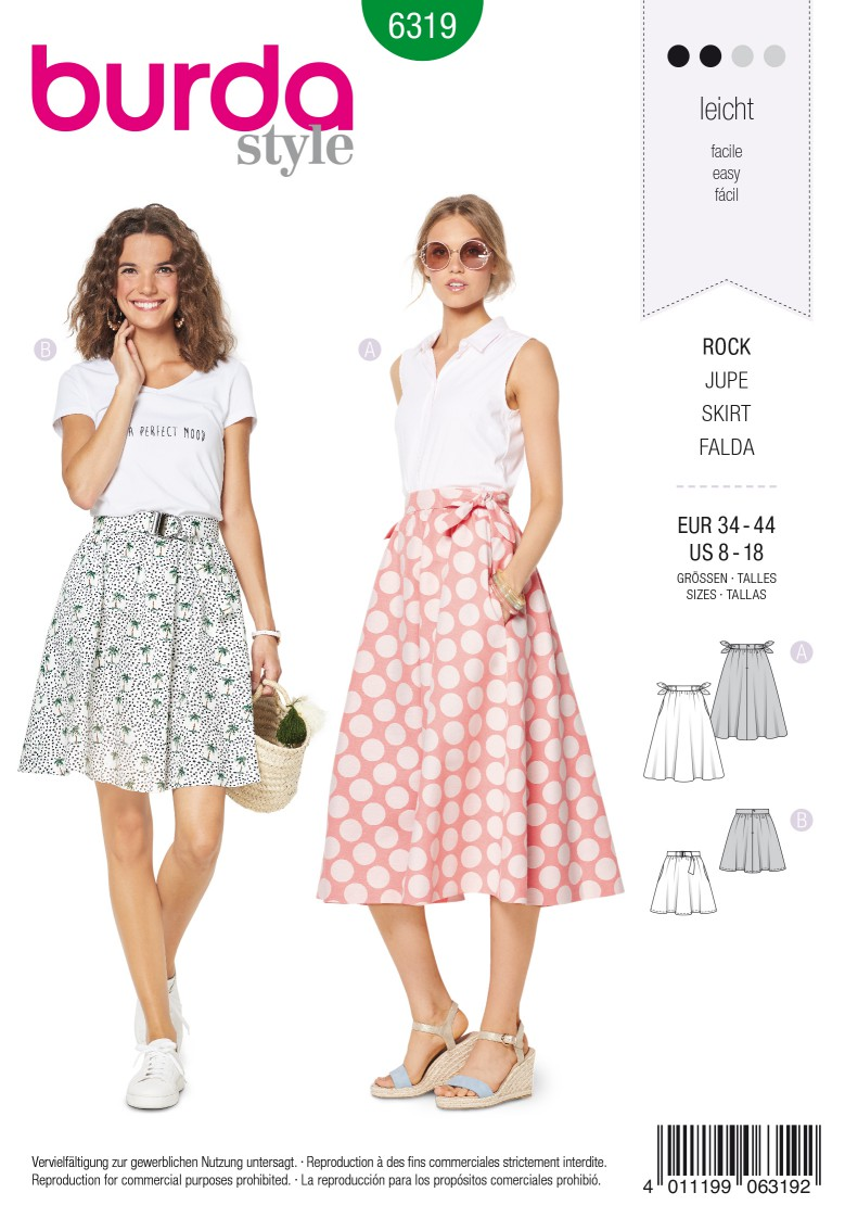Burda Style Pattern 6319 Misses' bell shaped skirt