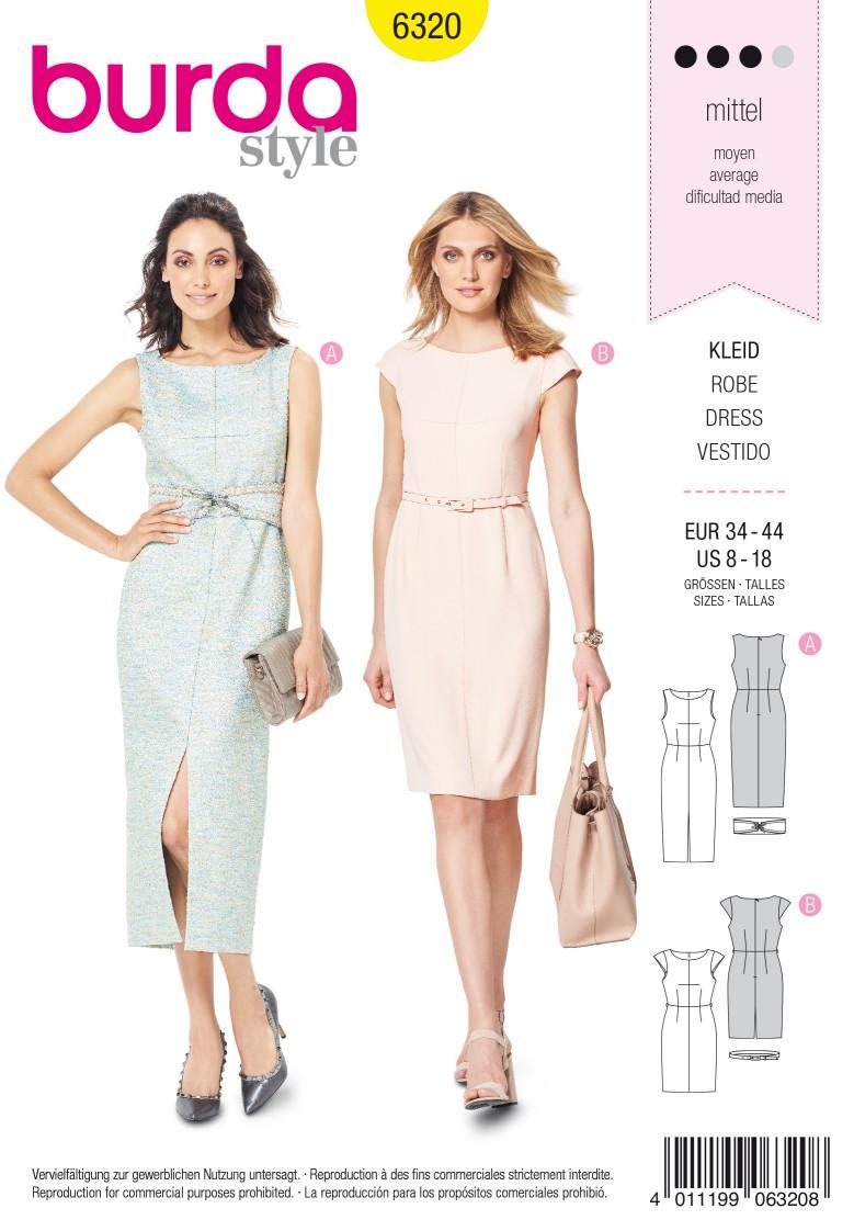 Burda Style Pattern 6320 Misses' sheath dress