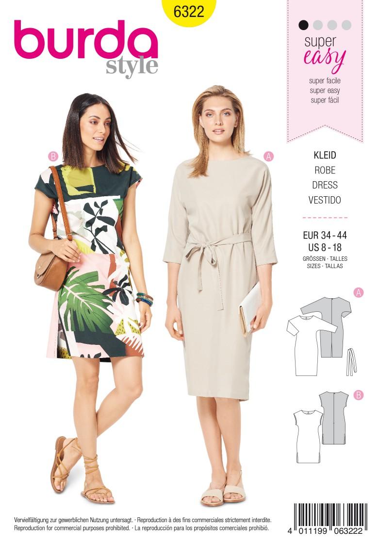 Burda Style Pattern 6322 Misses' dress