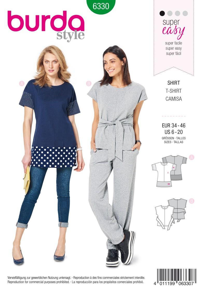 Burda Style Pattern 6330 Misses' top