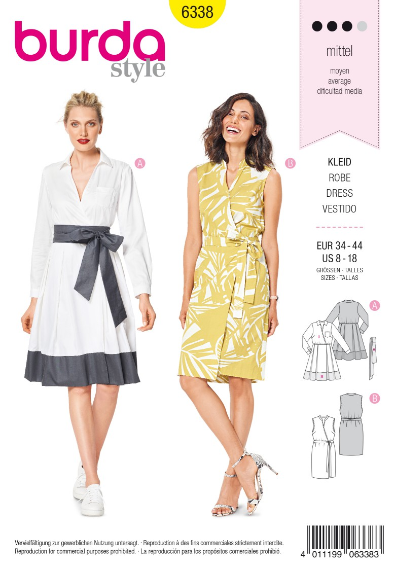 Burda Style Pattern 6338 Misses' wrap dress