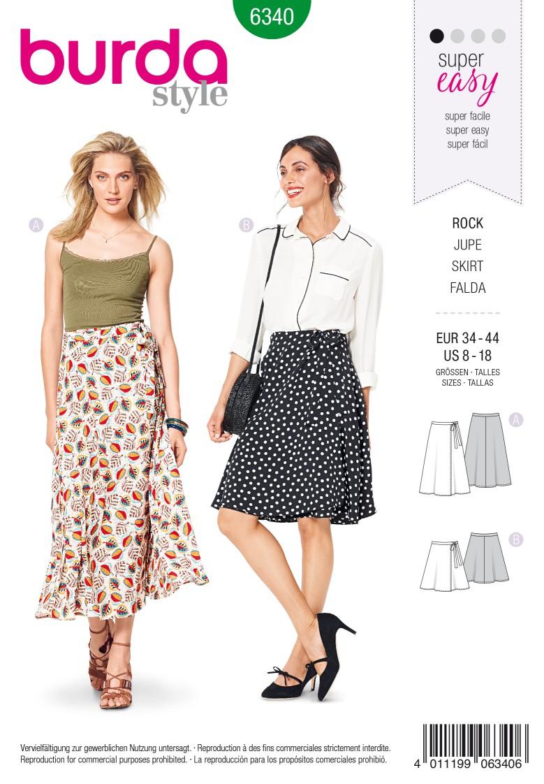 Burda Style Pattern 6340 Misses' wrap skirt