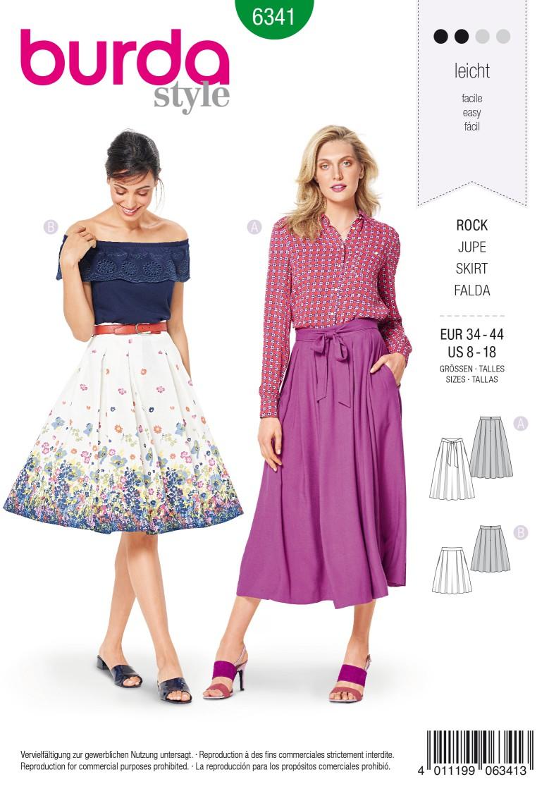 Burda Style Pattern 6341 Misses' inverted pleat skirt